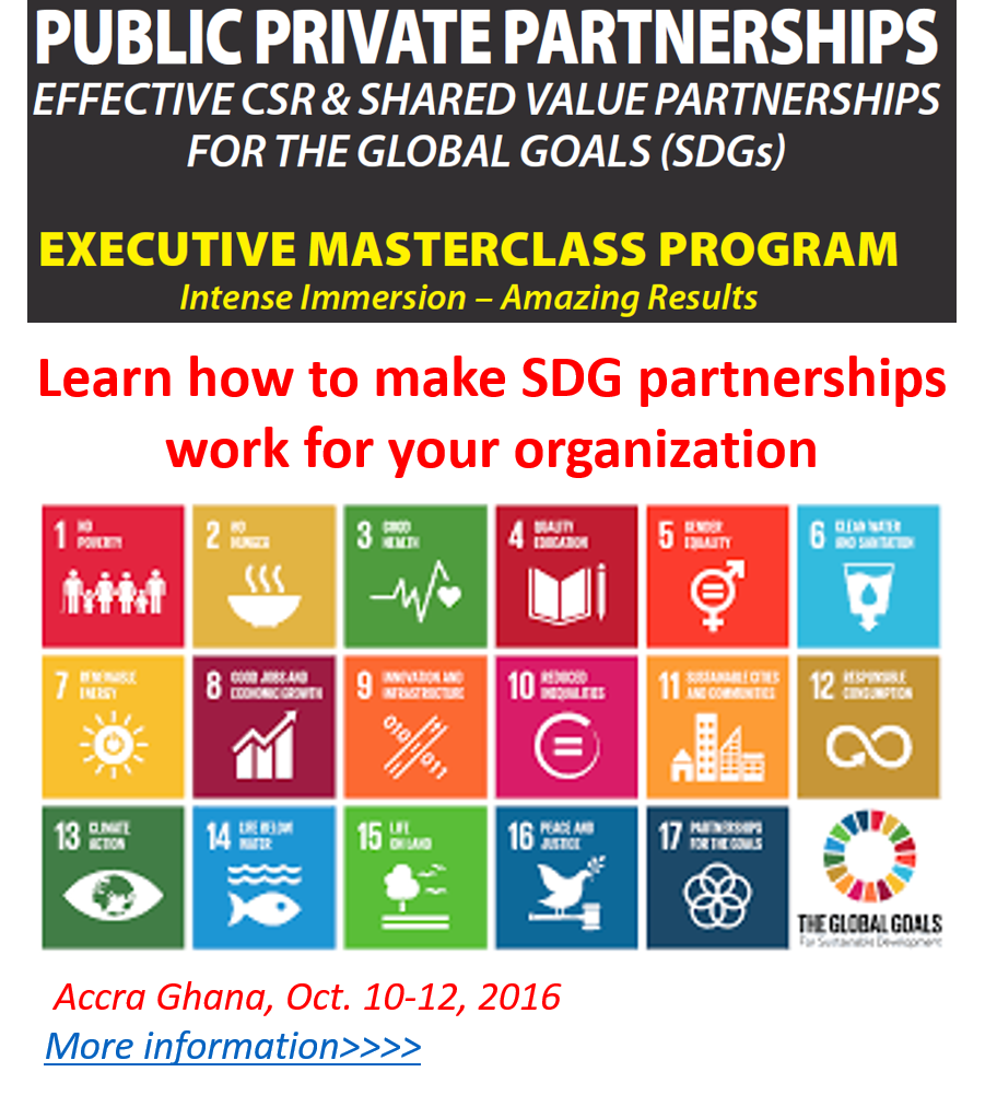 CSR & Shared Value Partnerships for the SDGs