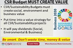 CSR budgets must create value