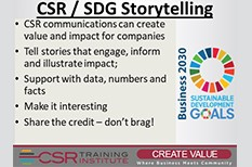 CSR Communications: Use Storytelling to Inform and Engage