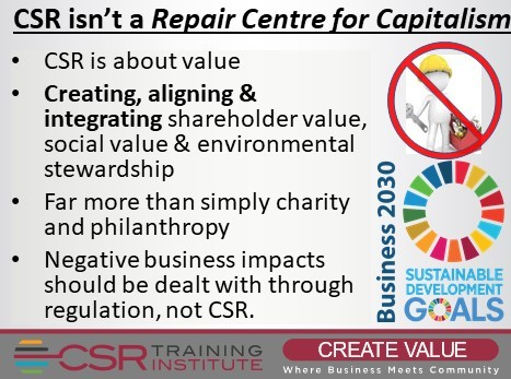 CSR is not the Repair Centre for Capitalism