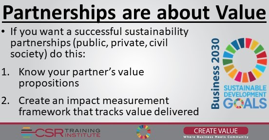 Sustainability:  Why some partnerships are doomed from the start